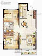山东路万科中心2室2厅1卫90平方米户型图