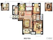 新城春天里4室2厅1卫100平方米户型图