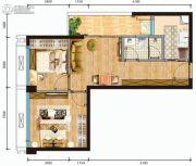 V1公馆2室1厅1卫0平方米户型图