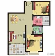 棕榈泉花园2室2厅1卫87平方米户型图