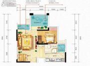 国瑞爱与山2室1厅1卫0平方米户型图