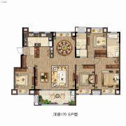 雅居乐万科中央公园4室2厅2卫170平方米户型图