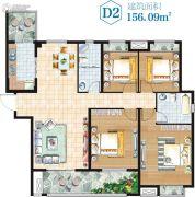 金湖・新天地4室2厅2卫156平方米户型图