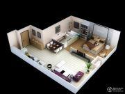 远洋国际中心1室1厅1卫88平方米户型图