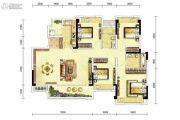 龙湖三千庭4室2厅2卫135平方米户型图
