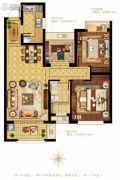 融科・玖玖派2室2厅1卫89平方米户型图