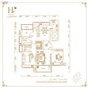 丽丰铂羽公馆4室2厅2卫129平方米户型图