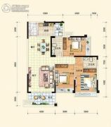 中通水岸3室2厅2卫112平方米户型图