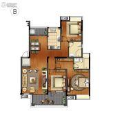 万科红郡3室2厅2卫0平方米户型图