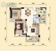 东湖国际城2室2厅1卫87平方米户型图