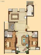 吴中万达广场2室2厅2卫140平方米户型图