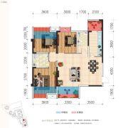 天立・凤凰唐城3室2厅2卫106平方米户型图