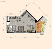 巽寮湾・幸福方舟1室1厅1卫73平方米户型图