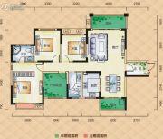 梅溪峰汇4室2厅2卫137平方米户型图