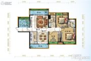 宜化绿洲新城3室2厅2卫117平方米户型图