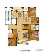 富田九鼎世家3室2厅2卫0平方米户型图