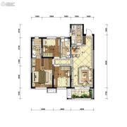 沈阳雅居乐花园3室2厅2卫113平方米户型图