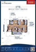 碧桂园十里银滩4室2厅2卫132--134平方米户型图