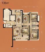 立体城4室2厅2卫135平方米户型图