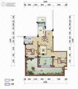 天籁谷2室2厅1卫67平方米户型图