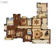 九龙仓玺园4室2厅3卫240平方米户型图