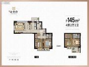苏州泰禾金尊府0室0厅0卫145平方米户型图