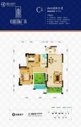 乾源国际广场3室2厅1卫91--95平方米户型图