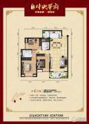 恩施清江・中央华府3室2厅2卫114平方米户型图