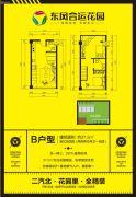 东风合运花园2室2厅2卫37平方米户型图