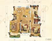 汇金原香3室1厅1卫116平方米户型图