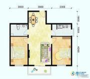 滨海新城2室1厅1卫86平方米户型图
