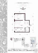 柏悦星城1室1厅1卫0平方米户型图