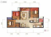 蓝光圣菲悦城3室2厅1卫78平方米户型图