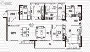 越秀滨海御城4室2厅2卫144平方米户型图