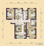 紫鑫苑3室2厅2卫127平方米户型图