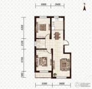 益和国际城2室2厅1卫89平方米户型图
