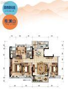 顺德碧桂园4室2厅2卫142平方米户型图
