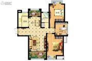 家天下3室2厅1卫118平方米户型图