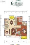 城市・锦上4室2厅2卫135平方米户型图