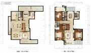 绿城西子田园牧歌3室2厅2卫156平方米户型图