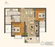 世茂外滩新城2室2厅2卫104平方米户型图