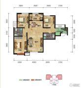中拓世纪天骄3室2厅2卫123平方米户型图