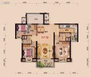 襄阳碧桂园3室2厅2卫115平方米户型图