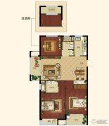 浙大网新未来郡3室2厅2卫112--114平方米户型图