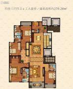 鹏欣水游城4室3厅4卫270平方米户型图