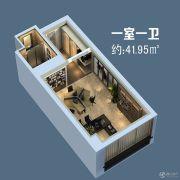 信阳恒大名都1室0厅1卫41平方米户型图