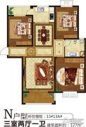 润泓・星林郡3室2厅1卫127平方米户型图