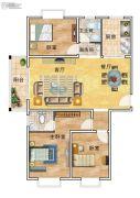 华美国际3室2厅2卫144平方米户型图