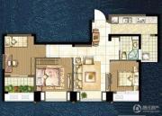 世茂香槟湖3室2厅1卫85平方米户型图