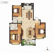 立成・桃源艺境3室2厅2卫130平方米户型图